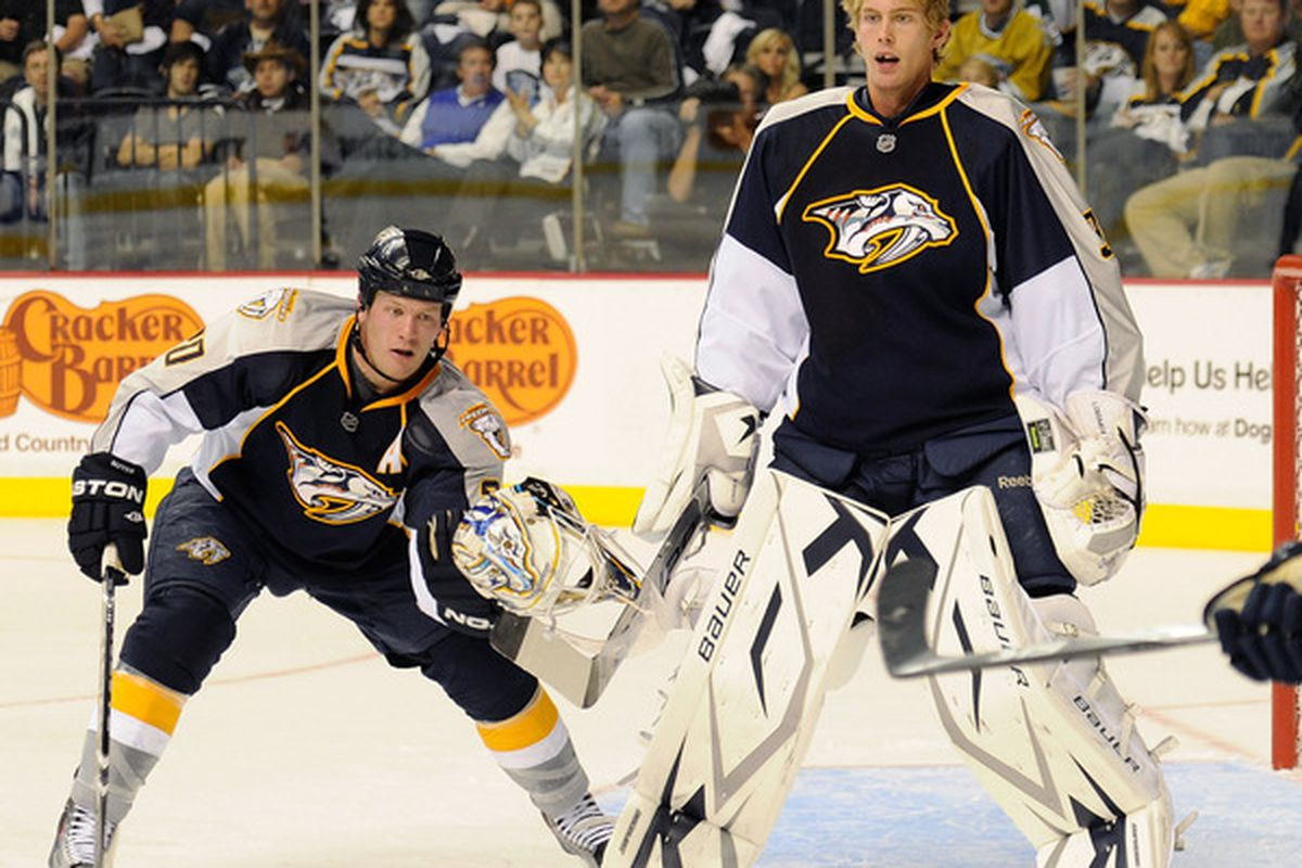 The Tampa Bay Lightning have acquired Anders Lindback from the Nashville Predators.