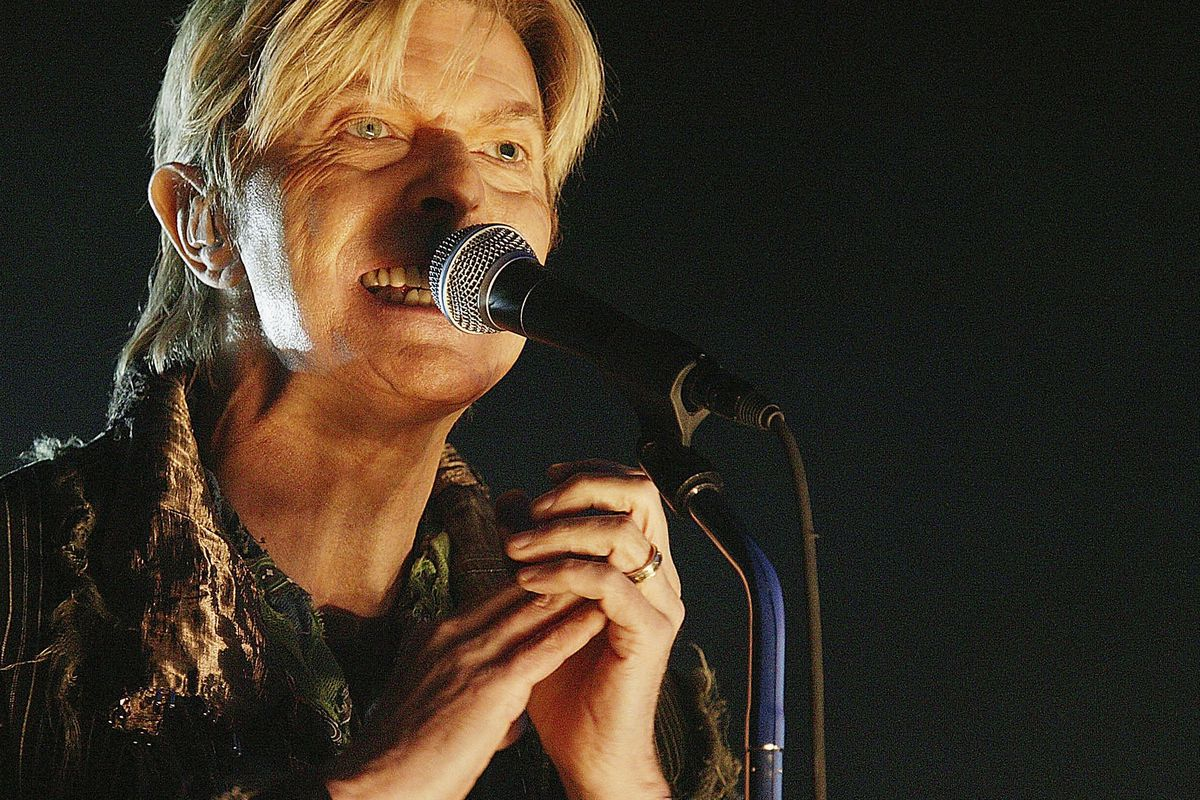David Bowie performs in 2004.