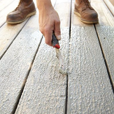 How To Re A Weathered Deck This