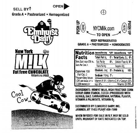 What you can no longer find on the DOE's website: nutritional information, including sugar content, on the chocolate milk served in city school cafeterias. This screen shot was taken earlier today, before the site was blocked.