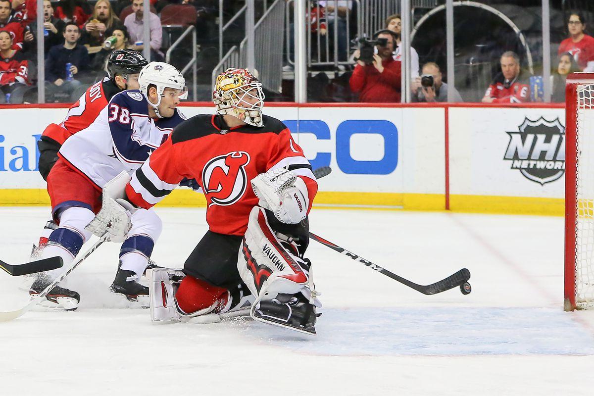 wholesale dealer b8610 cbcc2 Columbus Blue Jackets Acquire New Jersey Devils Goaltender ...