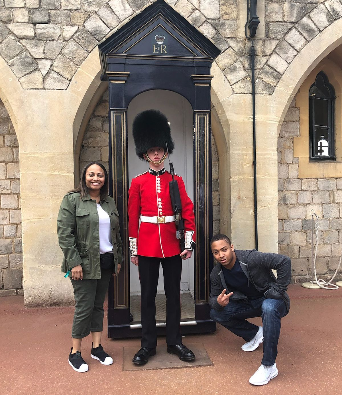 Michael Isaiah Nance with his mother, Shawn Gregoire, visited London in June.