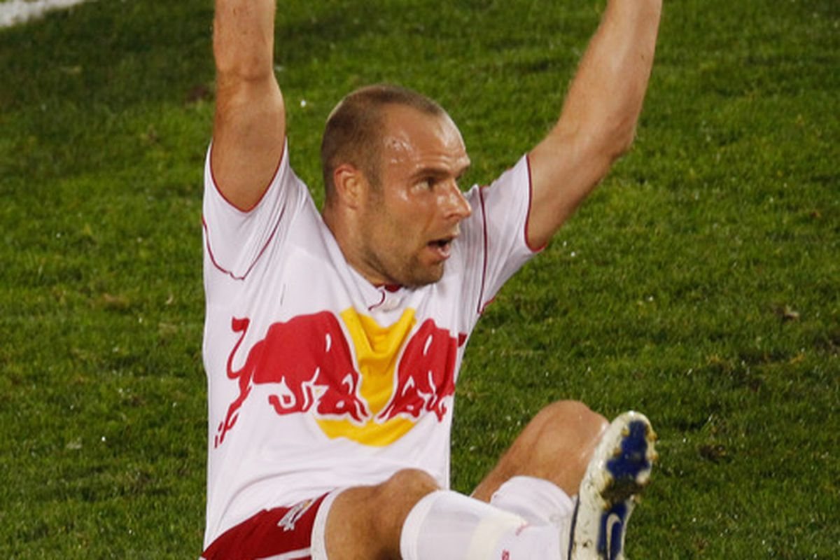 Joel Lindpere had the lone goal for New York last season as Real Salt Lake beat the Red Bulls a combined 6-1 from two matches.