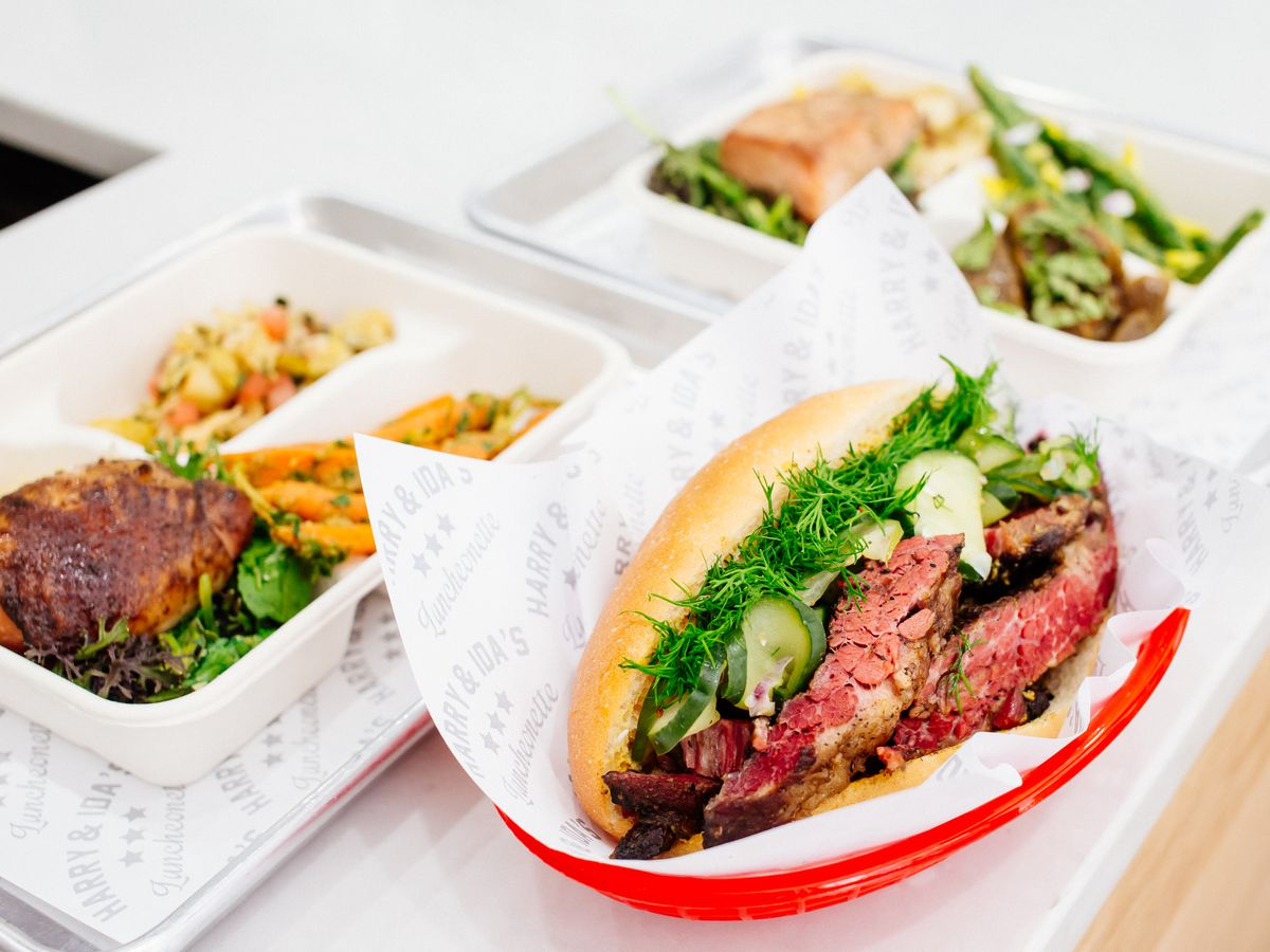 The restaurant at union fare a sprawling complex in union square in - Nyc S Newest Fast Casual Restaurant Gets Ambitious With Jewish Fare Harry Ida S Luncheonette Is Three Quarters Vegan And Focused On Food Waste