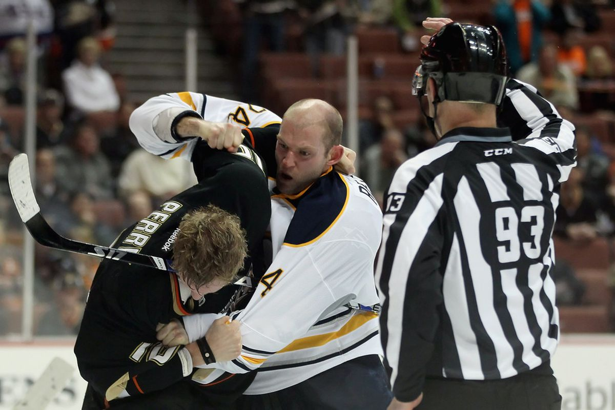 I'm sure he deserved it.   (Photo by Jeff Gross/Getty Images)