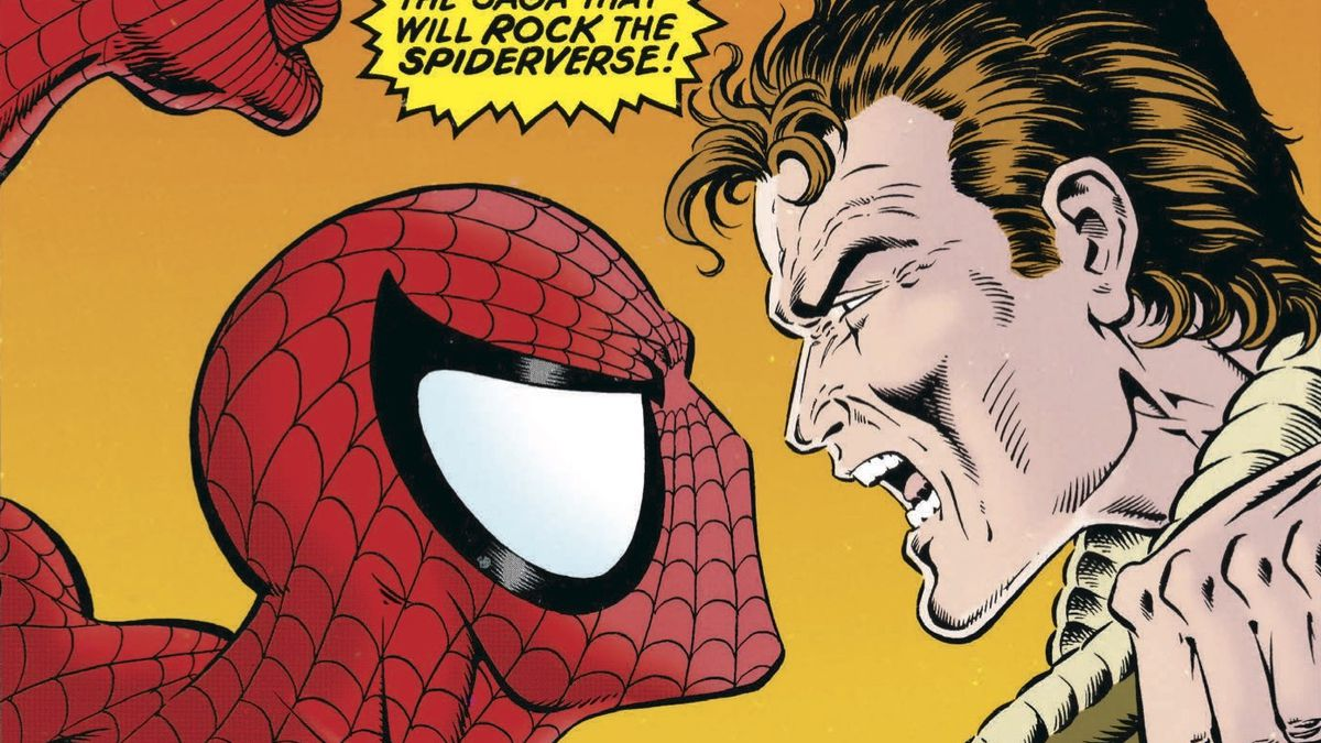 Spider-Man vs. Peter Parker on the cover of Web of Spider-Man #117, Marvel Comics (1994).