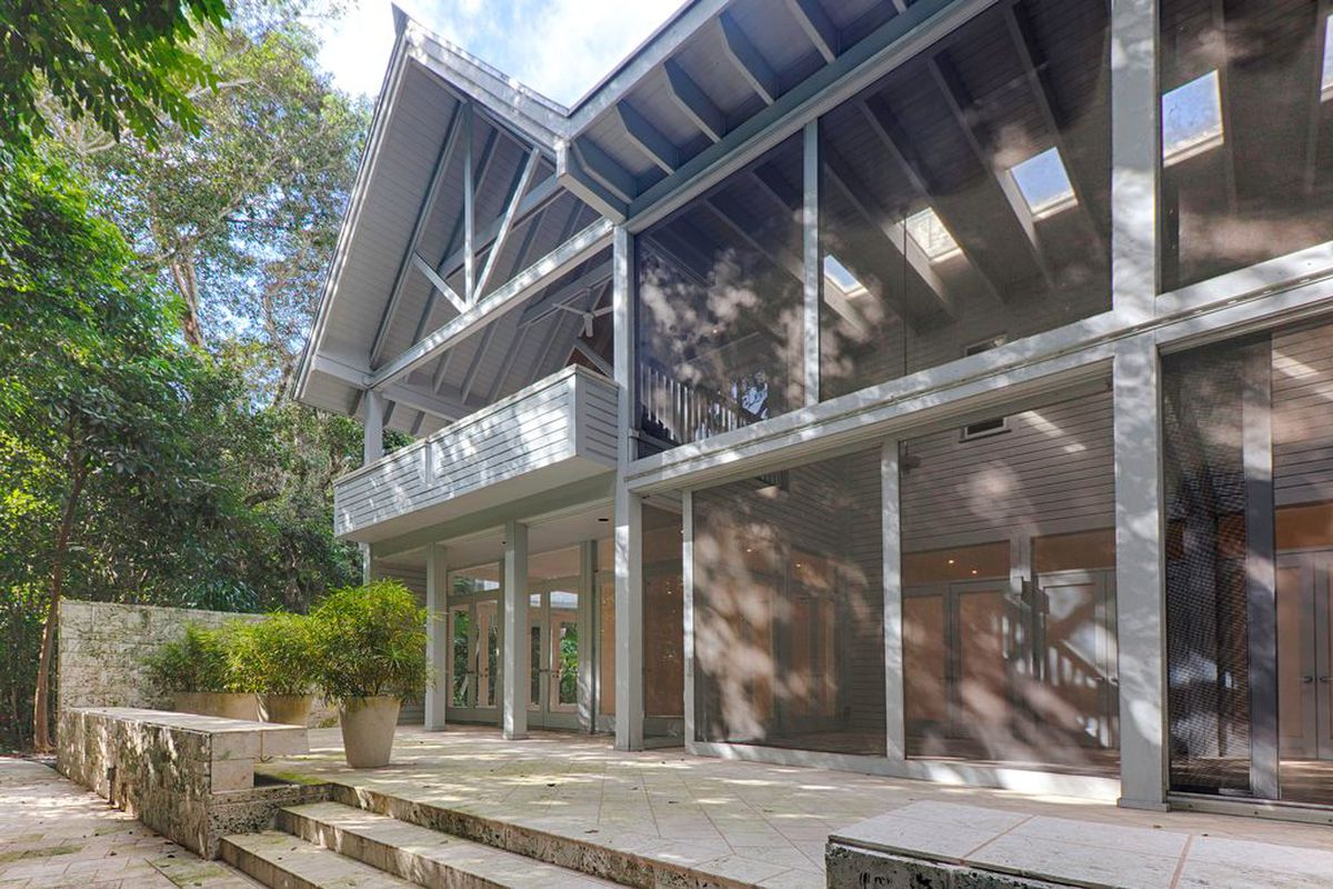 A glassy home in Miami's Coral Gables neighborhood