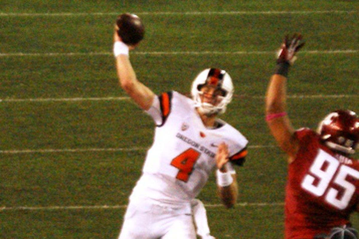 Sean Mannion may be missing a couple of his better targets (behind Brandin Cooks) Saturday when Oregon St. takes on California.