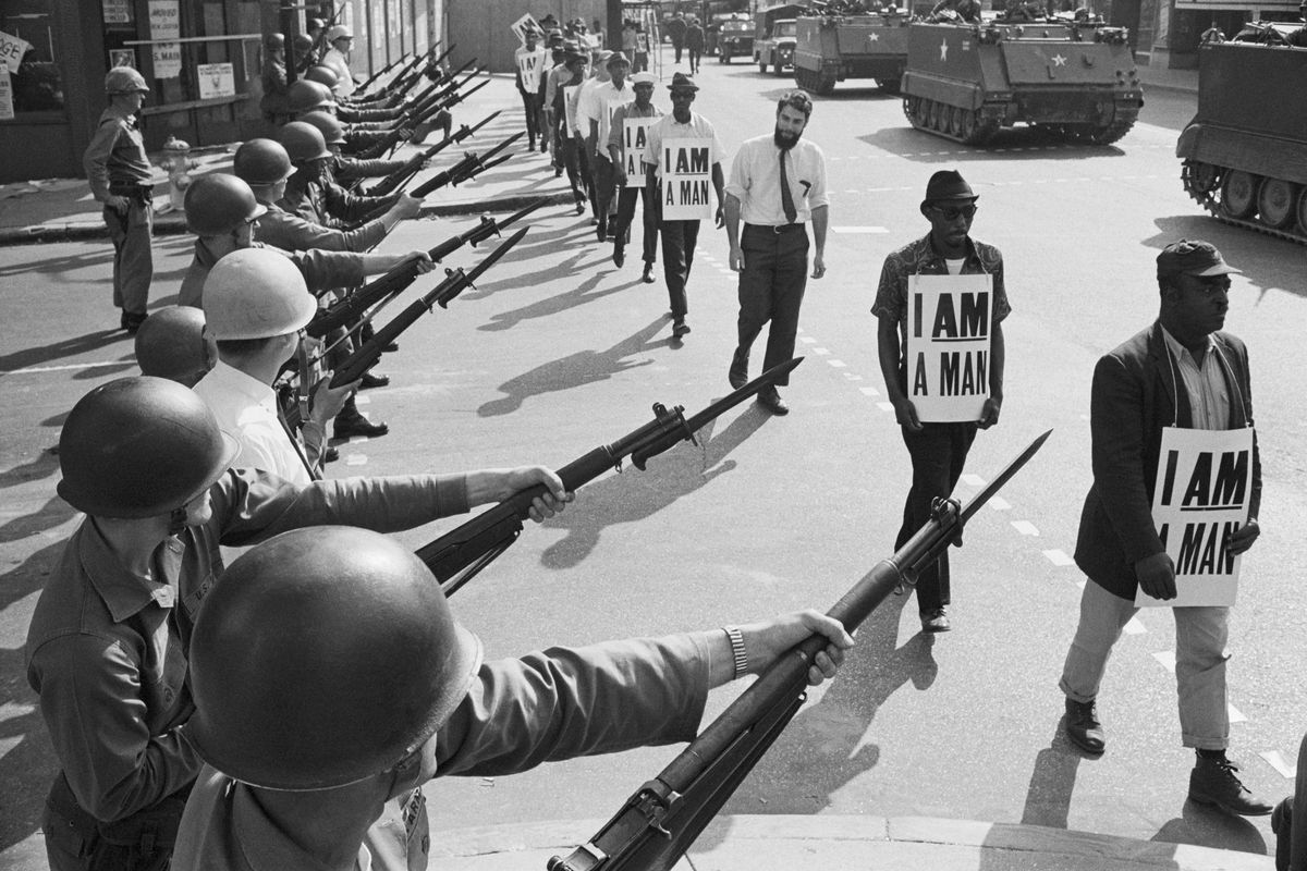 As MLK prepared to launch the Poor People's Campaign in 1968, he traveled to Memphis several times to support black sanitation workers striking in the city.