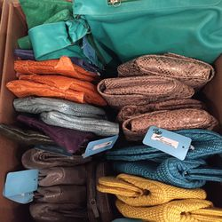 Bargain box, $50 purses, most priced from $295