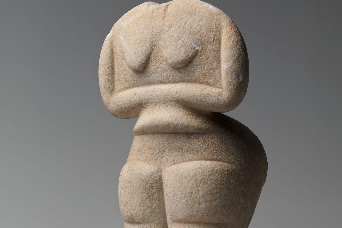 headless stone fertility figure