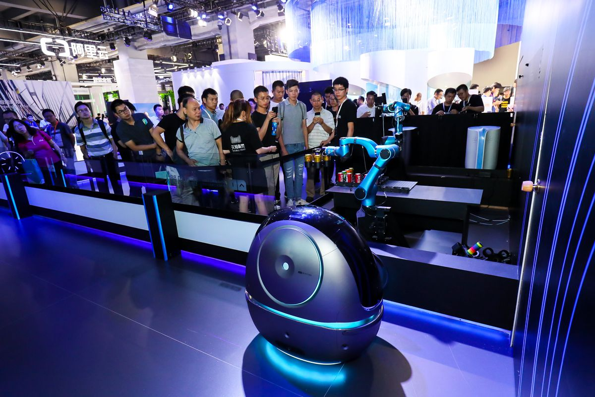 Chinese e-commerce giant Alibaba has built a robot porter