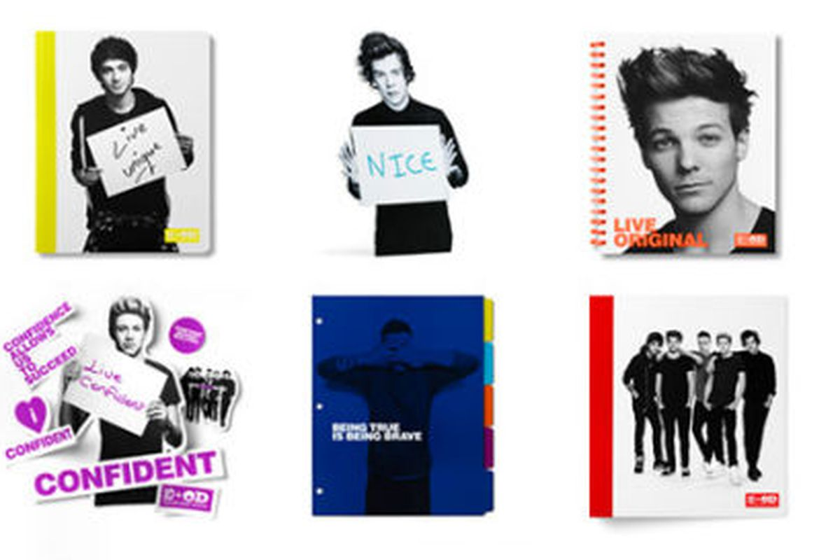Too soon? Office Depot's back-to-school collection with pop band One Direction