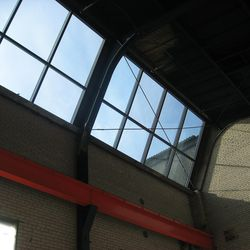 Skylights run throughout the building.