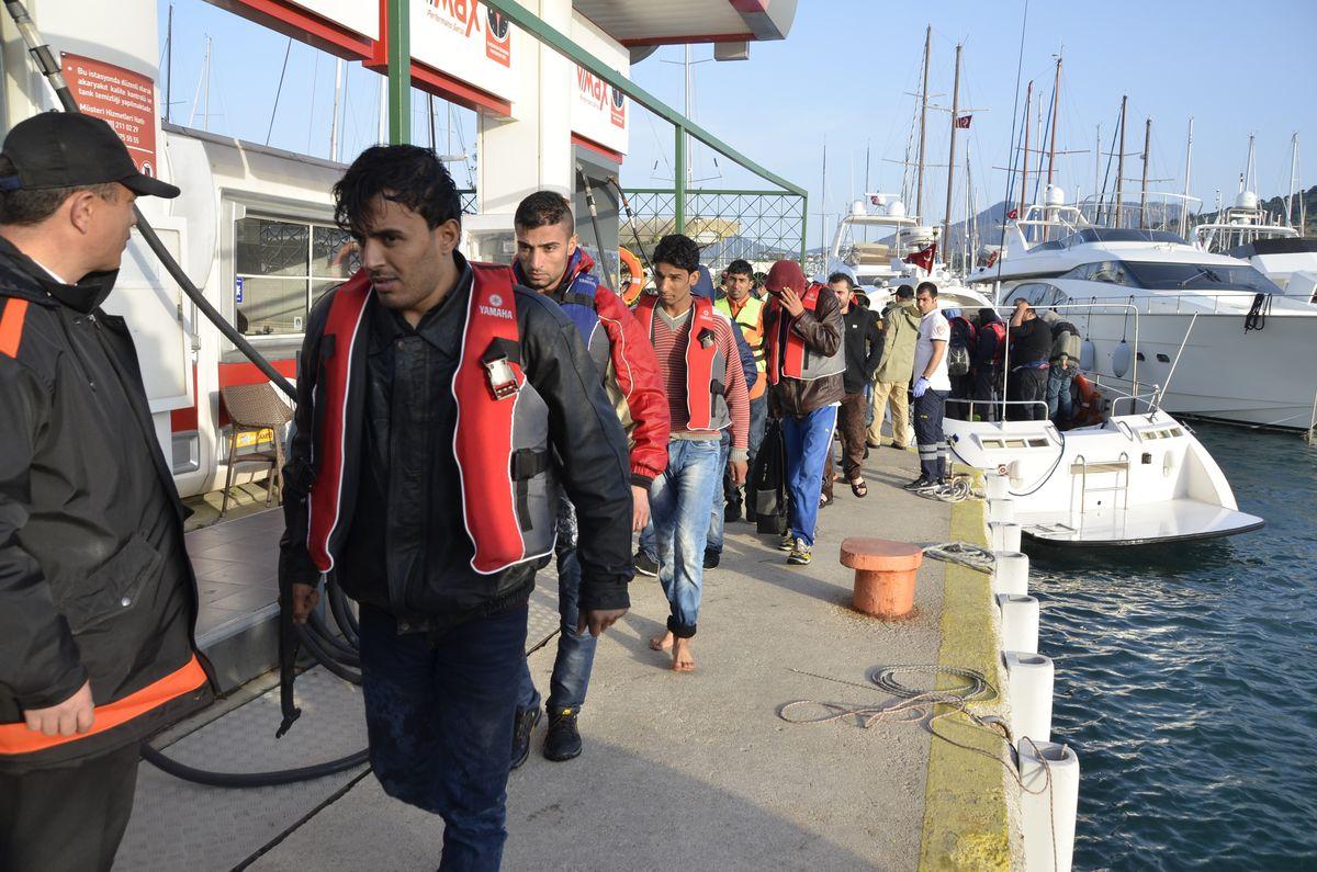 European migrants detained