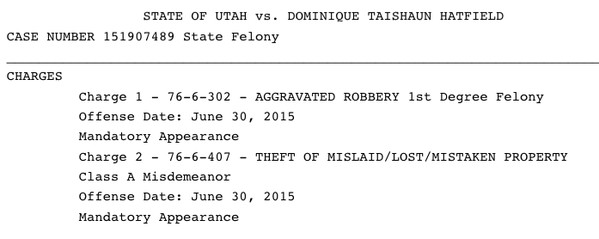 Charges Filed
