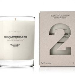 """Because guys like candles, too, this <a href=""""http://www.psandqs.com/collections/home-goods/products/baxter-white-wood-number-two-candle"""">White Wood Number Two Candle</a> by Baxter of California keeps it masculine with a trio woodsy scents. [$50 at South"""
