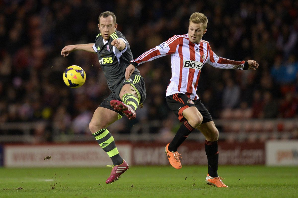 Charlie Adam and Seb Larsson battling for the ball during their last meeting