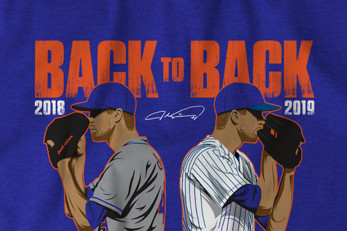 Jacob deGrom back-to-back Cy Young on a t-shirt!