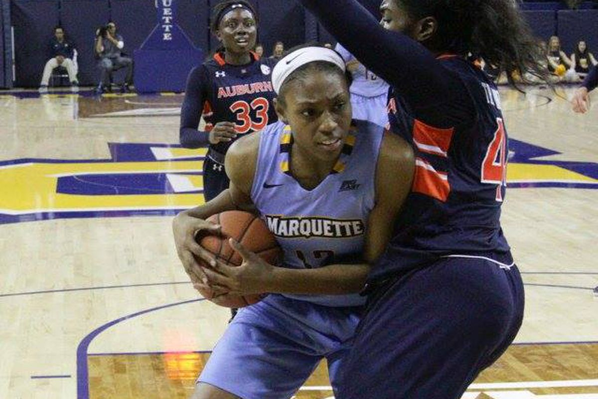 Erika Davenport is turning into a dangerous combo player with her ability to score inside and run the floor.