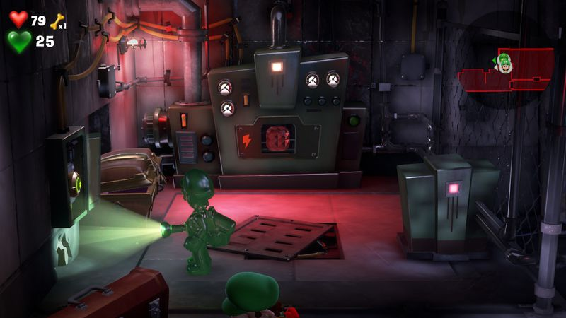 Luigi s Mansion 3 B1 Garage  red gem  2 - Luigi's Mansion 3 - Guida: come trovare tutte le gemme dei piani B2 e B1