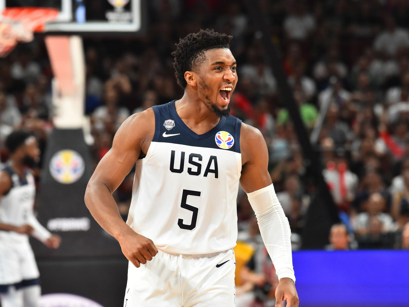 Donovan Mitchell and Team USA battle Brazil in final match
