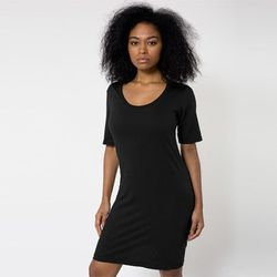 """<b>Nicola Fumo, Racked Market Editor</b>: """"I have owned this <b>American Apparel</b> <a href=""""http://store.americanapparel.net/fine-jersey-short-sleeve-crew-neck-t-shirt-dress_rsa2314"""">t-shirt dress</a> ($32) since <i>at least</i> 2009 and it's my go-to w"""
