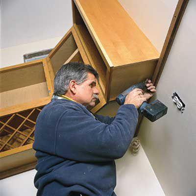 Man Adds Extra Storage Kitchen Cabinets