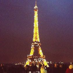Sorry, I couldn't resist! The Eiffel Tower is just so beautiful at night, and such a fitting way to end the day.