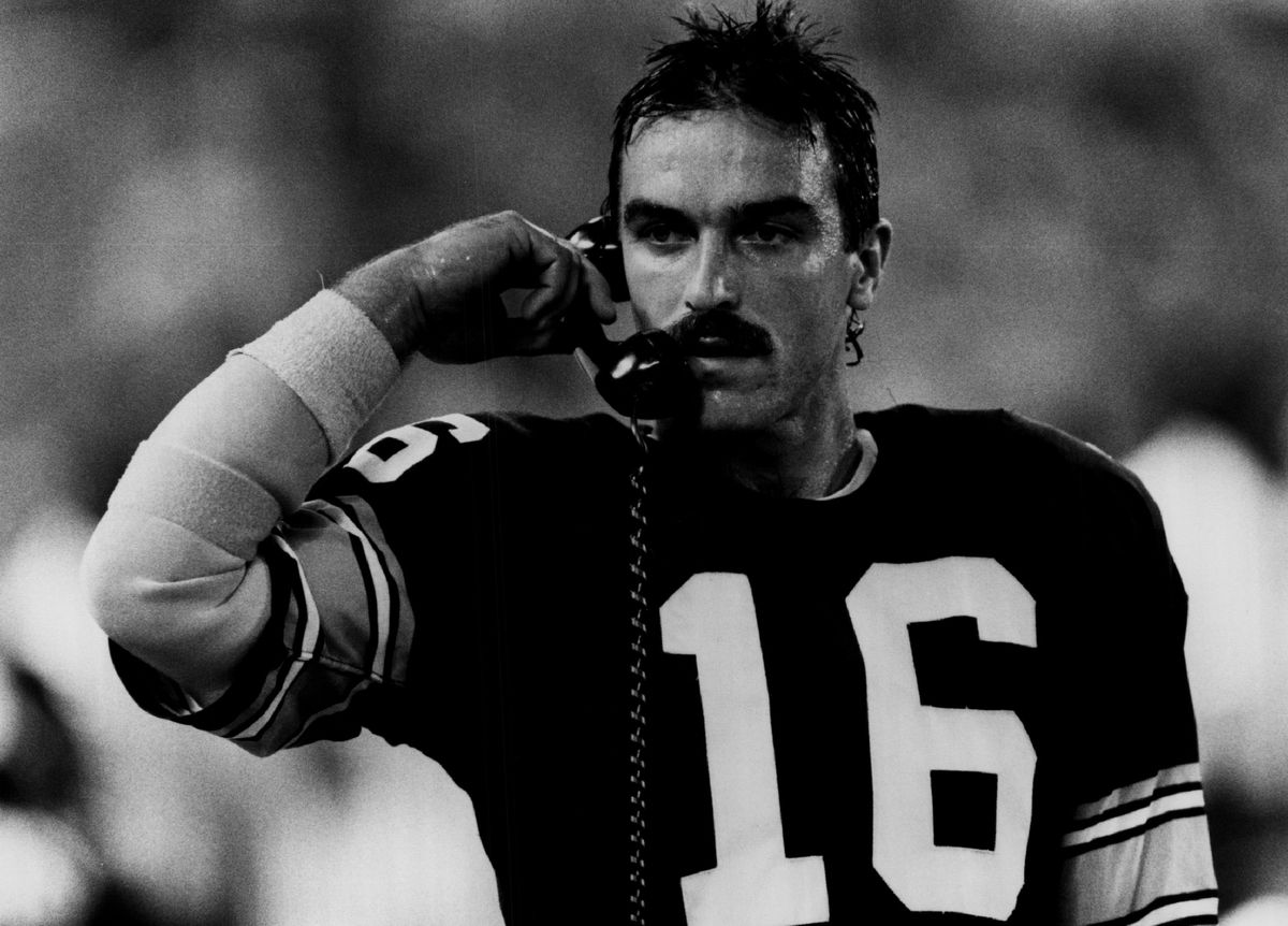 Mark Malone of the Pittsburgh Steelers...
