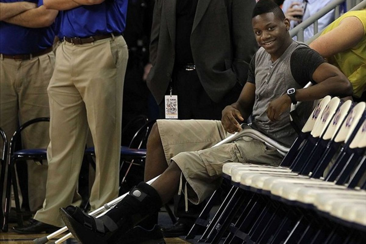 I could have gone with Yeguete playing in a game, but this picture's too funny.