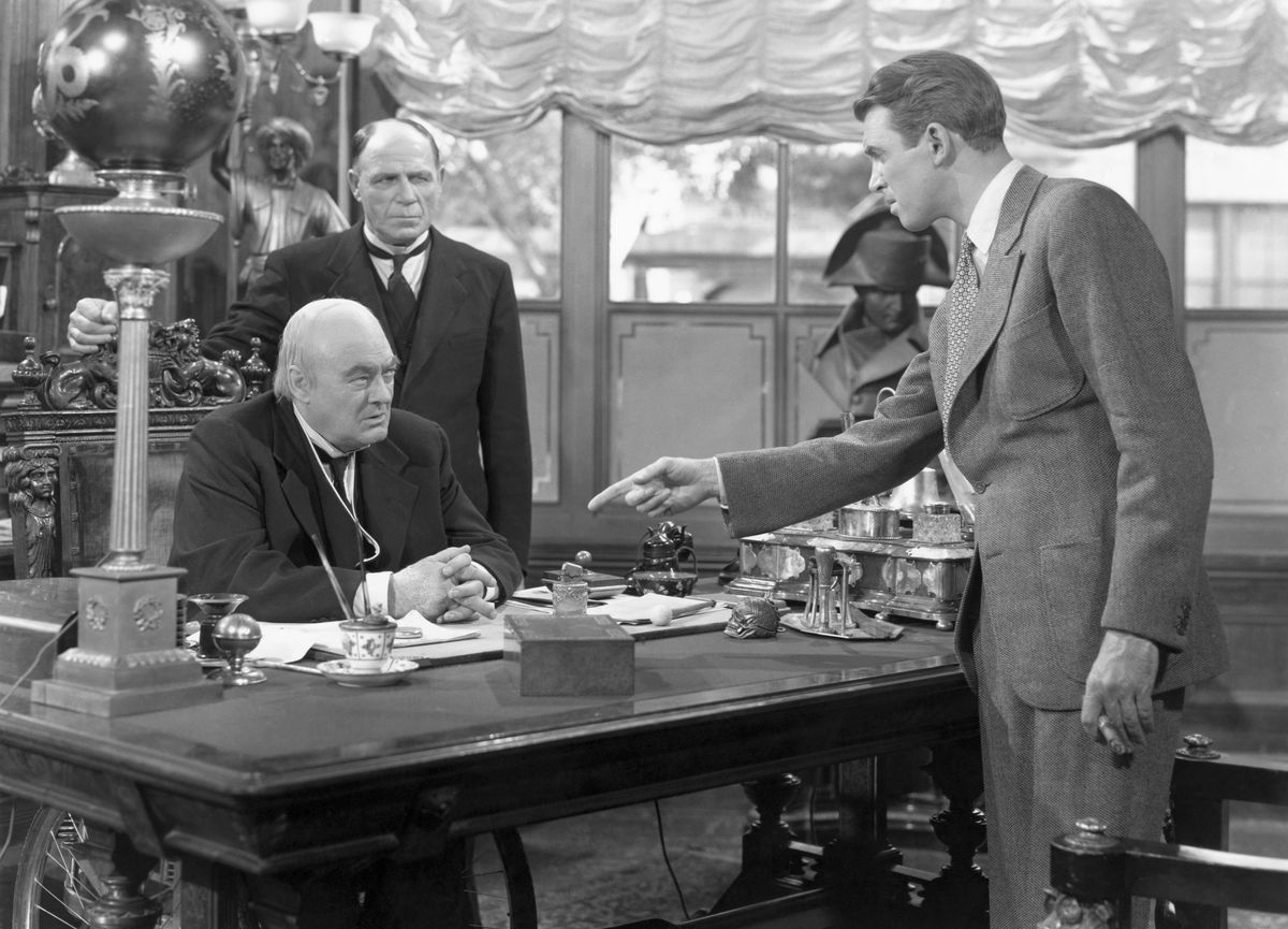 James Stewart Pointing at Lionel Barrymore