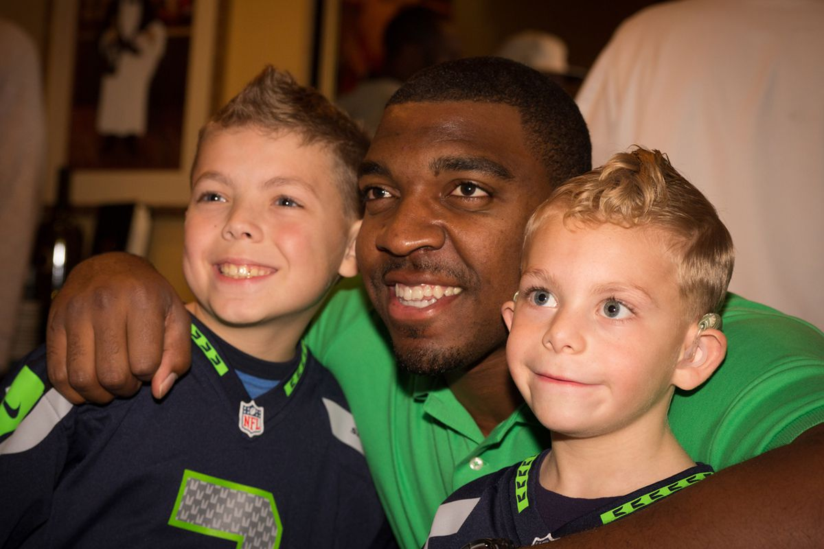 Seahawks player Greg Scruggs at last year's celebrity event.