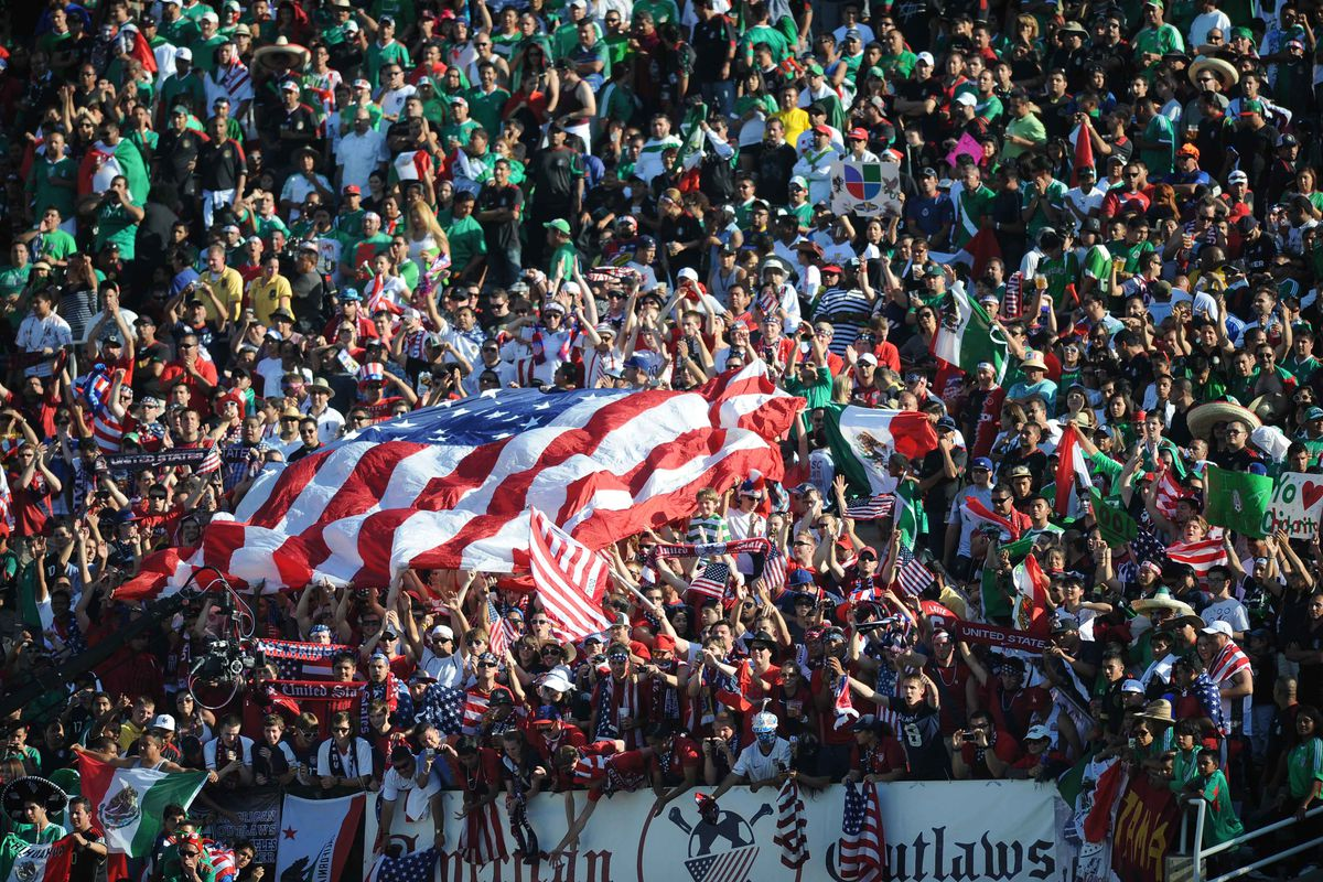 USA and Mexico fans at the 2013 Gold Cup Finals