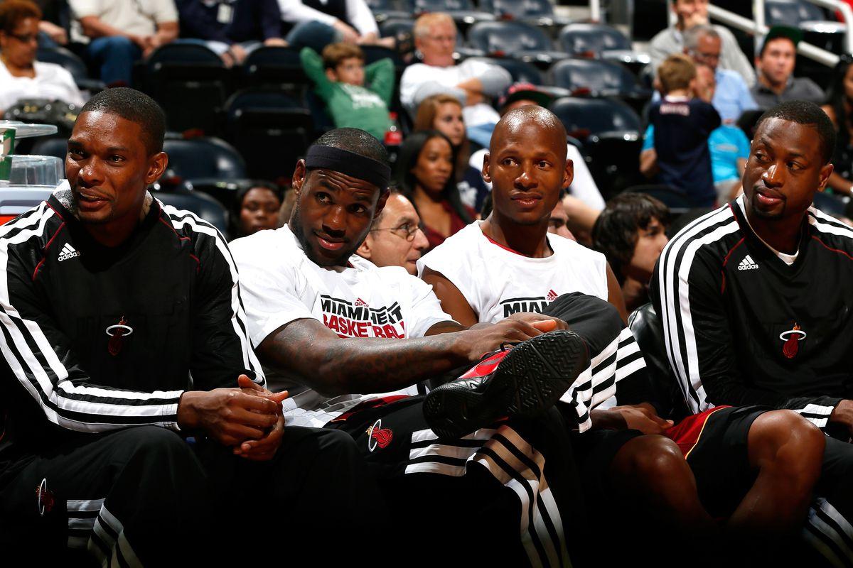 The Heat bench reacts in a preseason loss at Atlanta