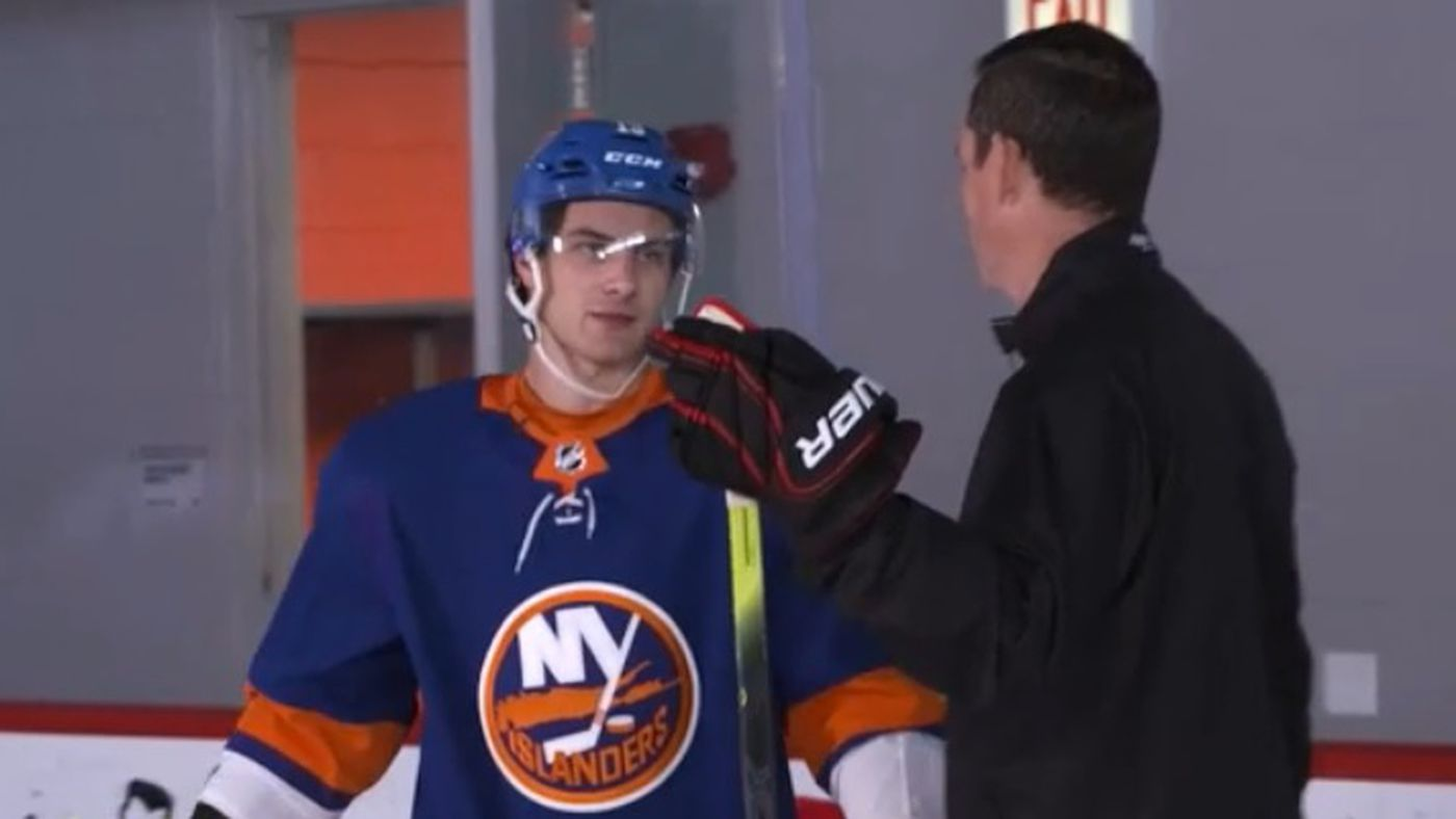 Video: Learn to Stickhandle the Mat Barzal Way (yeah, right)