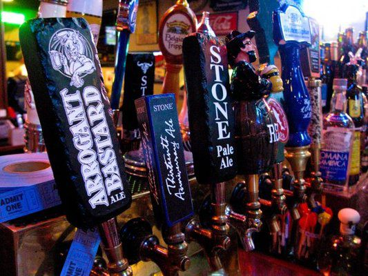 Beer taps at Aces & Ales