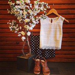 """<strong>Miss Love</strong> white tank, $48 at <a href=""""http://marmaladesf.com"""">Marmalade</a>"""