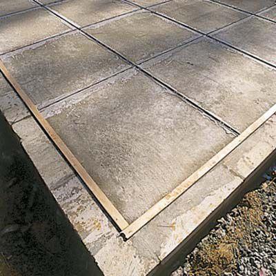 Zinc Dividers Cemented To Slab of Terrazzo Floor