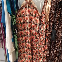 Thakoon embroidered dress with leather straps, $1230