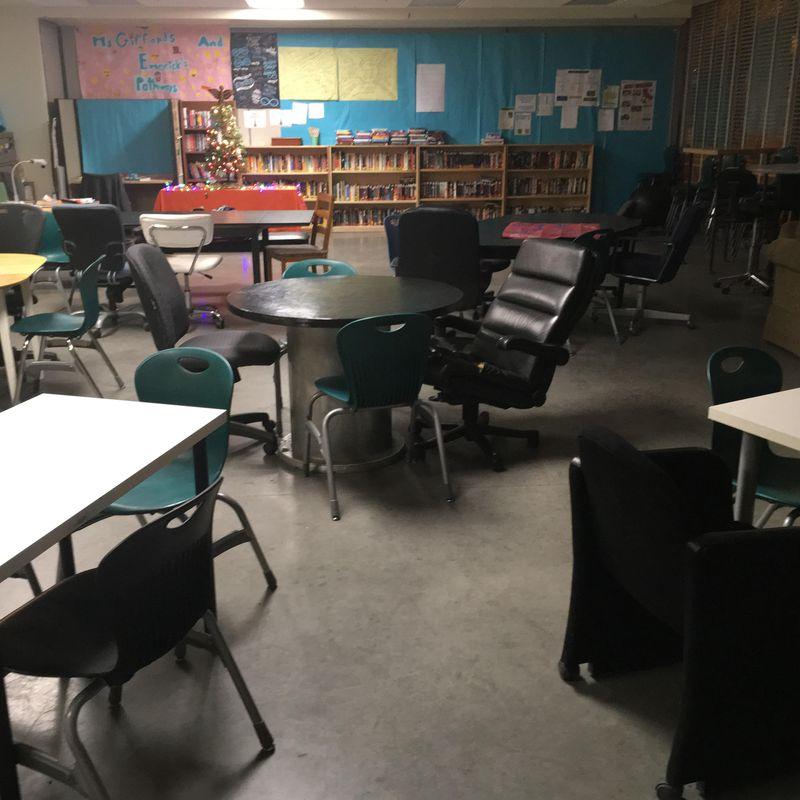 English teacher Kristin Gifford's classroom.