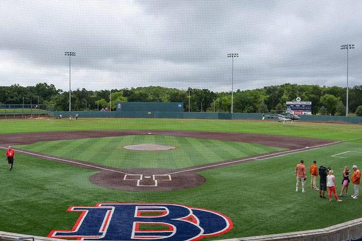 Dallas Baptist's field is too wet for baseball today.