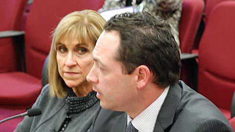 Tony Salazar, with UNC President Kay Norton at left