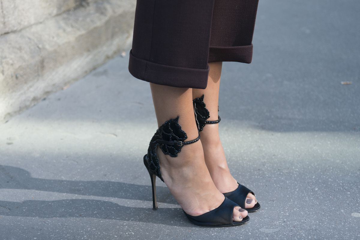 Sergio Rossi heels spotted at Paris Fashion Week in October