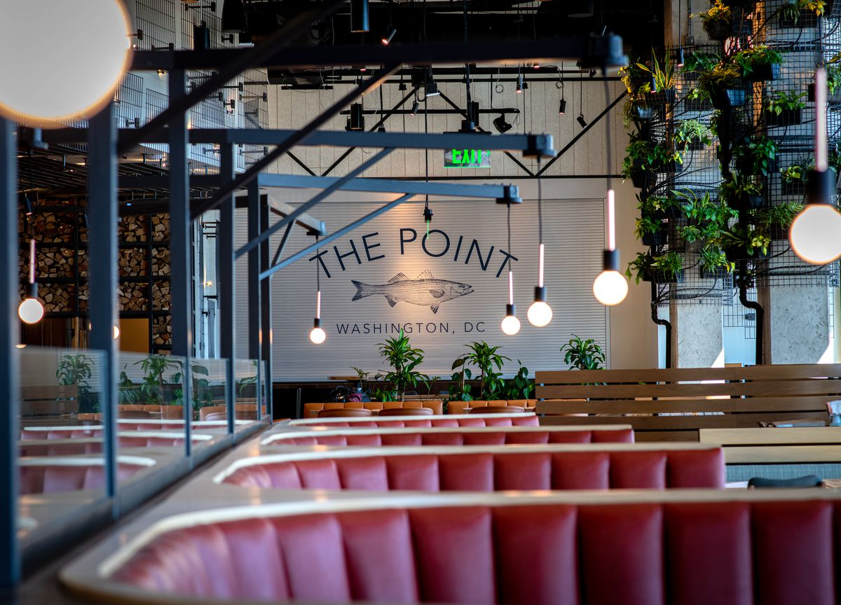 The Point's massive dining room has space for 70 people at 25 percent capacity