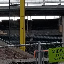 These seats were removed and ADA seating is going in their place