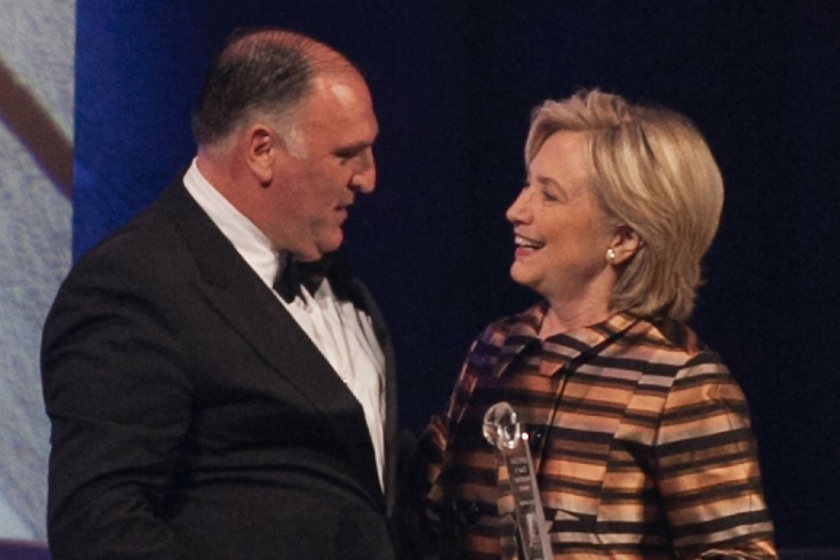 Jose Andres and Hillary Clinton