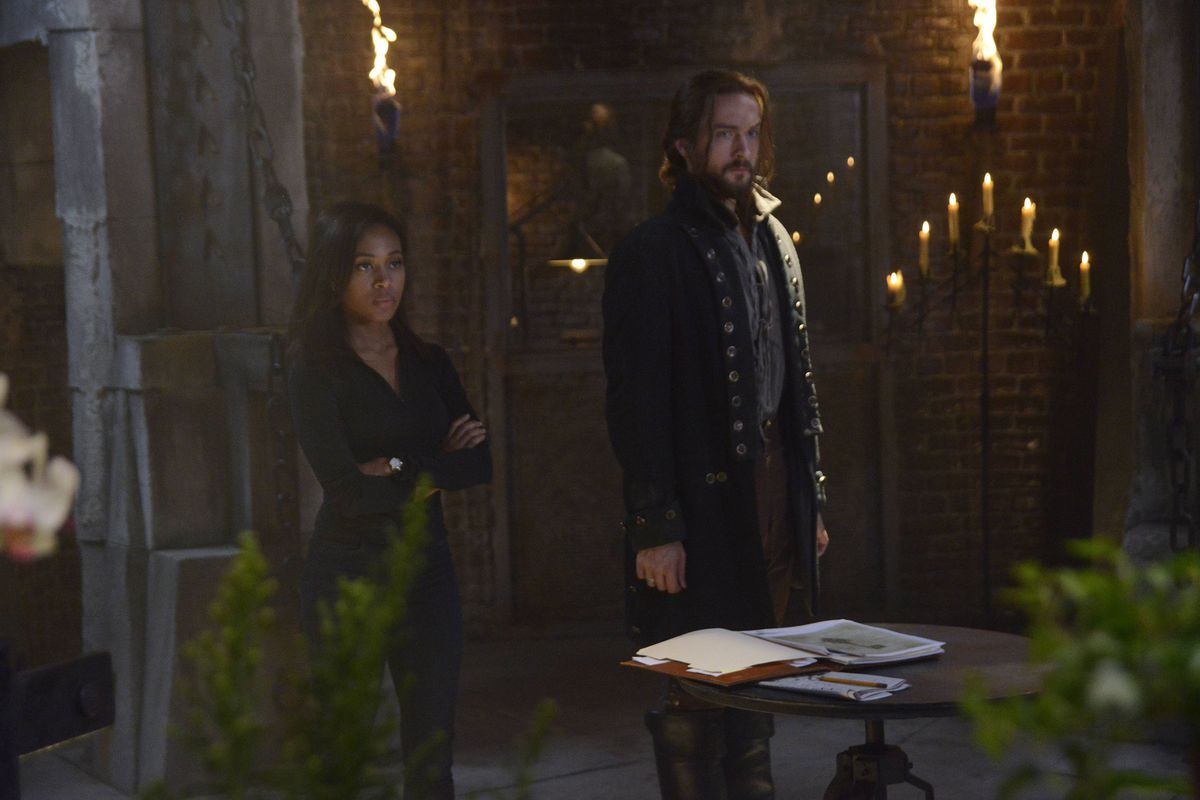 Abbie (Nicole Beharie) and Ichabod (Tom Mison) work to save the world yet again in the Sleepy Hollow premiere.