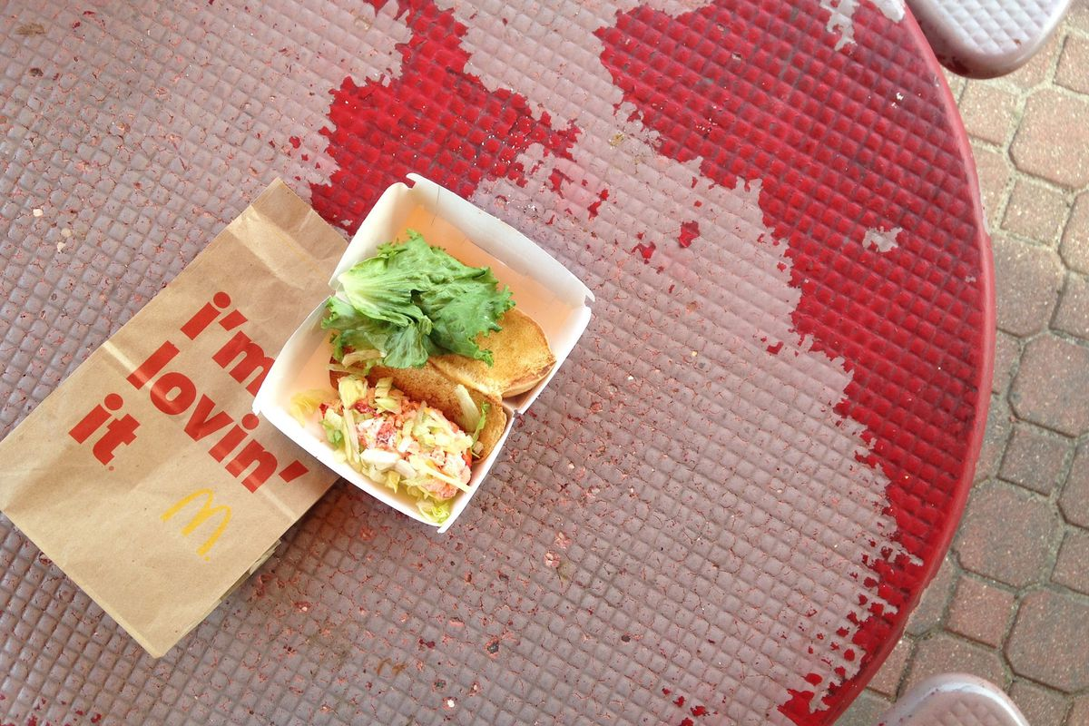 I Tried the McDonald's Lobster Roll Because You Shouldn't - Eater Maine
