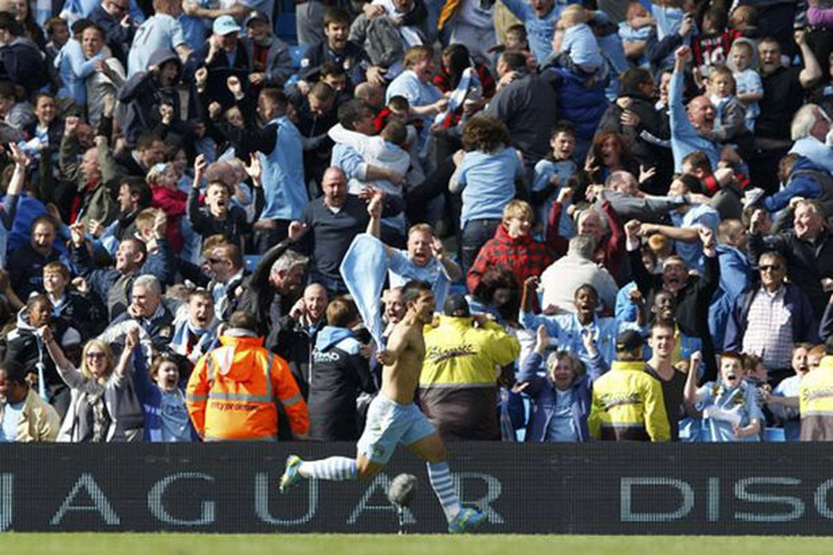 Look at the sheer joy of the celebration of player and fan alike